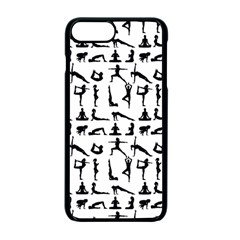 Yoga Pattern Apple Iphone 7 Plus Seamless Case (black) by Valentinaart