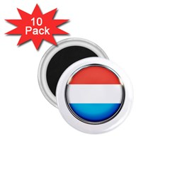 Luxembourg Nation Country Red 1 75  Magnets (10 Pack)  by Nexatart