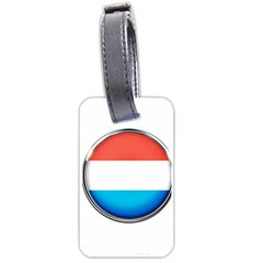 Luxembourg Nation Country Red Luggage Tags (one Side)