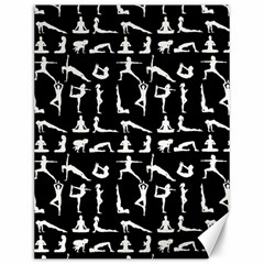 Yoga Pattern Canvas 12  X 16   by Valentinaart