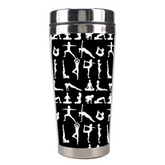 Yoga Pattern Stainless Steel Travel Tumblers by Valentinaart