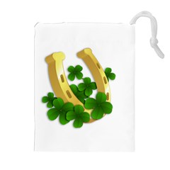 St  Patricks Day  Drawstring Pouches (extra Large) by Valentinaart