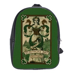 St  Patricks Day  School Bag (large) by Valentinaart
