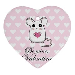 Cute Mouse   Valentines Day Ornament (heart)
