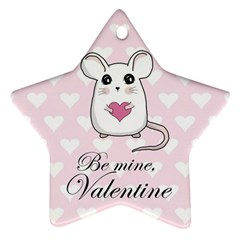 Cute Mouse - Valentines Day Ornament (star) by Valentinaart