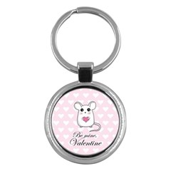 Cute Mouse   Valentines Day Key Chains (round)  by Valentinaart