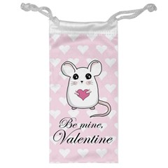 Cute Mouse   Valentines Day Jewelry Bag by Valentinaart