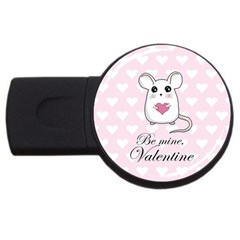 Cute Mouse   Valentines Day Usb Flash Drive Round (4 Gb)