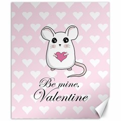 Cute Mouse   Valentines Day Canvas 8  X 10  by Valentinaart