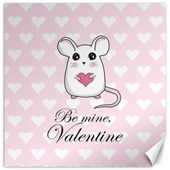 Cute Mouse   Valentines Day Canvas 12  X 12   by Valentinaart