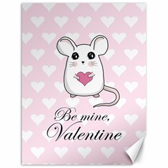 Cute Mouse   Valentines Day Canvas 12  X 16   by Valentinaart