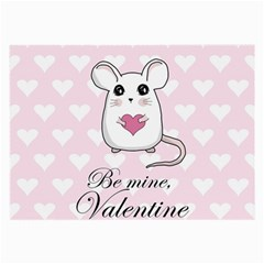 Cute Mouse   Valentines Day Large Glasses Cloth