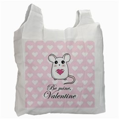 Cute Mouse - Valentines Day Recycle Bag (two Side)  by Valentinaart