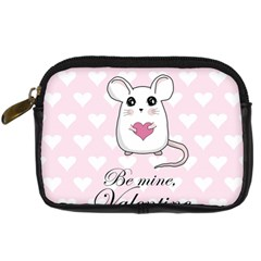 Cute Mouse   Valentines Day Digital Camera Cases by Valentinaart