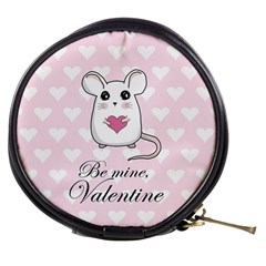 Cute Mouse   Valentines Day Mini Makeup Bags by Valentinaart