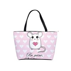 Cute Mouse   Valentines Day Shoulder Handbags by Valentinaart