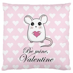 Cute Mouse   Valentines Day Large Cushion Case (two Sides) by Valentinaart