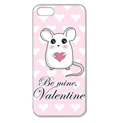 Cute Mouse   Valentines Day Apple Seamless Iphone 5 Case (clear)