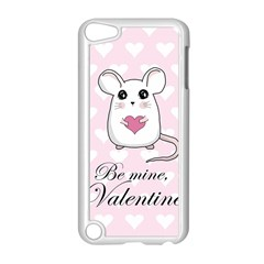 Cute Mouse   Valentines Day Apple Ipod Touch 5 Case (white) by Valentinaart