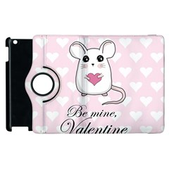 Cute Mouse   Valentines Day Apple Ipad 2 Flip 360 Case