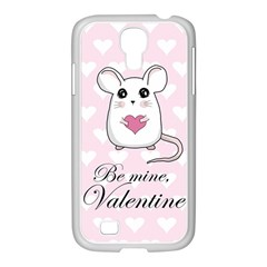 Cute Mouse   Valentines Day Samsung Galaxy S4 I9500/ I9505 Case (white)