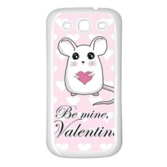 Cute Mouse   Valentines Day Samsung Galaxy S3 Back Case (white) by Valentinaart