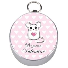 Cute Mouse   Valentines Day Silver Compasses by Valentinaart