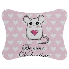 Cute Mouse   Valentines Day Jigsaw Puzzle Photo Stand (bow) by Valentinaart