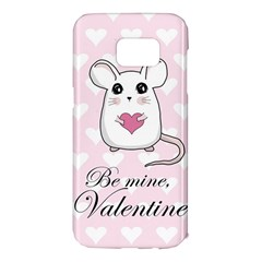 Cute Mouse   Valentines Day Samsung Galaxy S7 Edge Hardshell Case