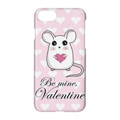 Cute Mouse   Valentines Day Apple Iphone 7 Hardshell Case by Valentinaart