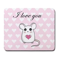 Cute Mouse   Valentines Day Large Mousepads by Valentinaart