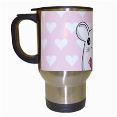 Cute Mouse   Valentines Day Travel Mugs (white)