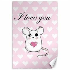 Cute Mouse   Valentines Day Canvas 24  X 36