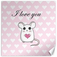 Cute Mouse   Valentines Day Canvas 20  X 20   by Valentinaart