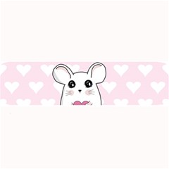 Cute Mouse   Valentines Day Large Bar Mats