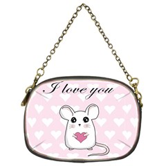 Cute Mouse - Valentines Day Chain Purses (one Side)  by Valentinaart