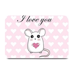 Cute Mouse   Valentines Day Plate Mats by Valentinaart