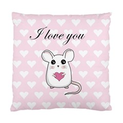 Cute Mouse - Valentines Day Standard Cushion Case (one Side) by Valentinaart