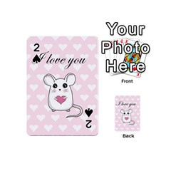 Cute Mouse   Valentines Day Playing Cards 54 (mini)  by Valentinaart