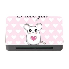 Cute Mouse   Valentines Day Memory Card Reader With Cf by Valentinaart