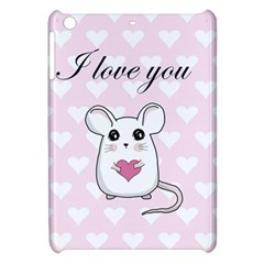 Cute Mouse   Valentines Day Apple Ipad Mini Hardshell Case by Valentinaart