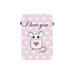 Cute Mouse   Valentines Day Apple Ipad Mini Protective Soft Cases by Valentinaart