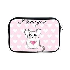Cute Mouse   Valentines Day Apple Ipad Mini Zipper Cases by Valentinaart