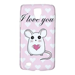 Cute Mouse   Valentines Day Galaxy S4 Active by Valentinaart