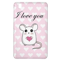 Cute Mouse   Valentines Day Samsung Galaxy Tab Pro 8 4 Hardshell Case by Valentinaart