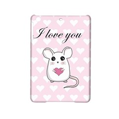 Cute Mouse   Valentines Day Ipad Mini 2 Hardshell Cases by Valentinaart