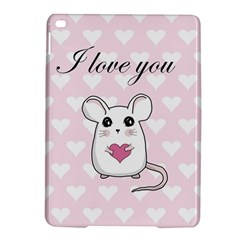 Cute Mouse   Valentines Day Ipad Air 2 Hardshell Cases by Valentinaart
