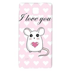 Cute Mouse   Valentines Day Galaxy Note 4 Back Case by Valentinaart