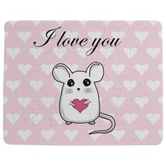 Cute Mouse - Valentines Day Jigsaw Puzzle Photo Stand (rectangular) by Valentinaart