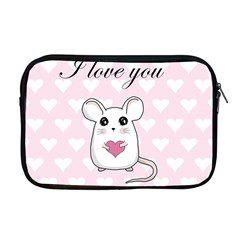 Cute Mouse   Valentines Day Apple Macbook Pro 17  Zipper Case by Valentinaart